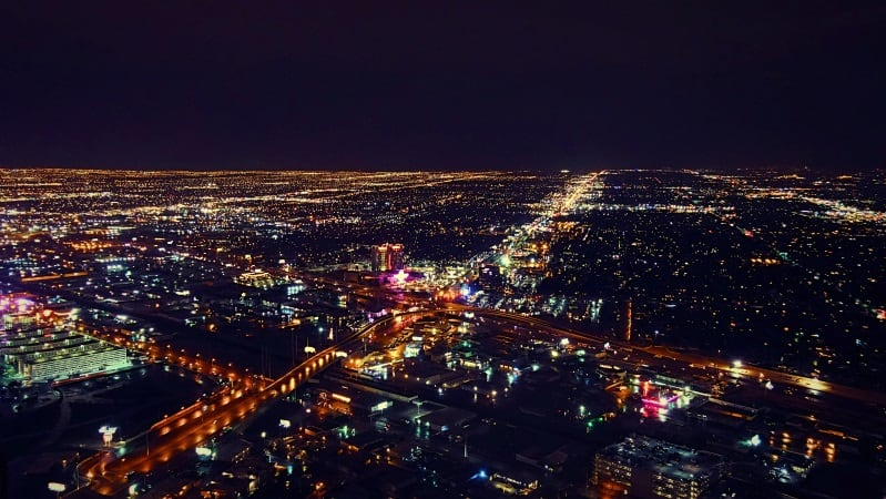 las vegas city at night